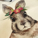 Bunny Flower Cushion Cover