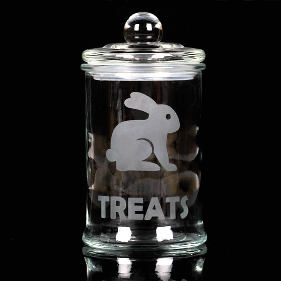Glass Bunny Treat Jar