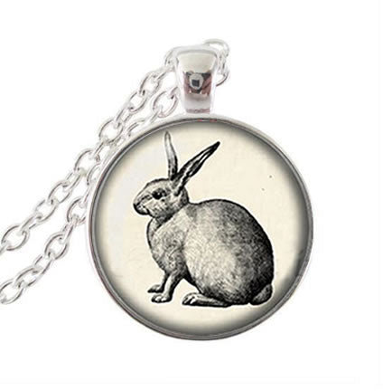 Vintage Bunny Necklace