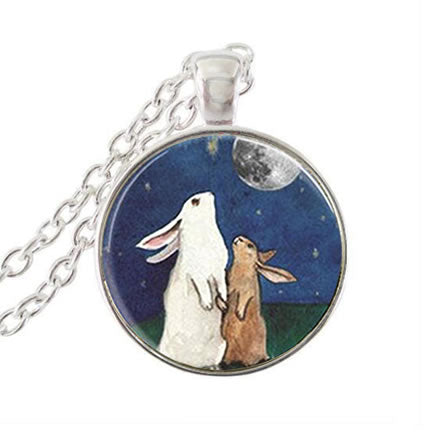 Two Bunnies Necklace