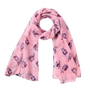 Bunny Scarf Pink