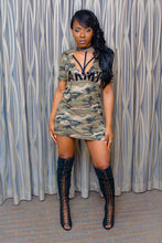 Load image into Gallery viewer, Queen Camo Shirt Dress