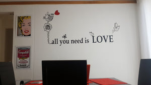 VINILO DECORATIVO ALL YOU NEED IS LOVE DEKOADHESIVO