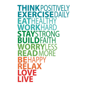 VINILO DECORATIVO THINK POSITIVELY DEKOADHESIVO