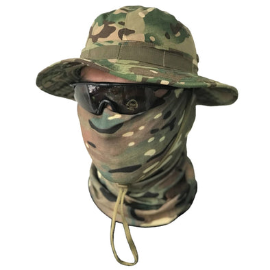 Neck Scarf Face Mask with Tactical Hat - Tactical Stryke