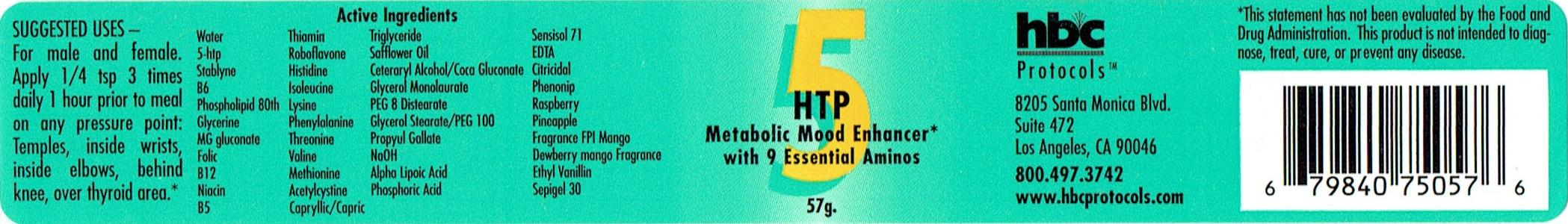 5-HTP CREAM WITH 9 ESSENTIAL MOOD SUPPORTING AMINOS