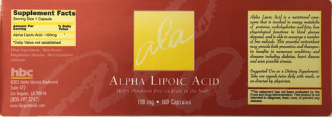 Image of Alpha Lipoic Acid - 180 capsules | 100mg