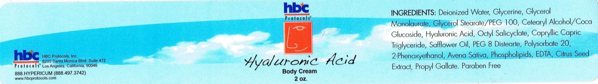 Hyaluronic Transdermal Cream - 2oz Bottle