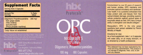 Image of OPC French Pine Bark - Grape seed - 180 Capsules
