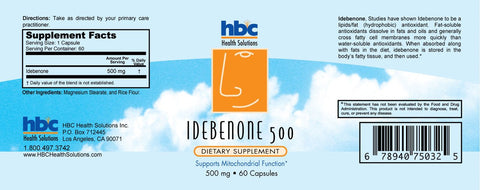 Image of Idebenone 500mg 60 Capsules