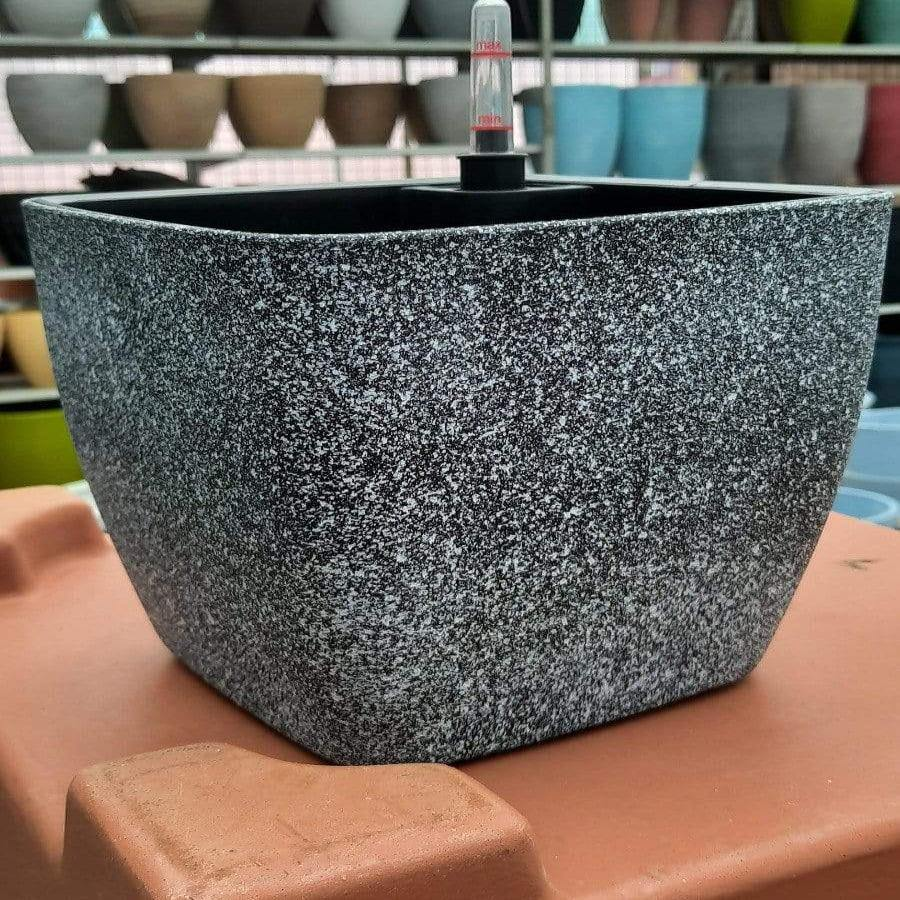 Self watering Stone color pot