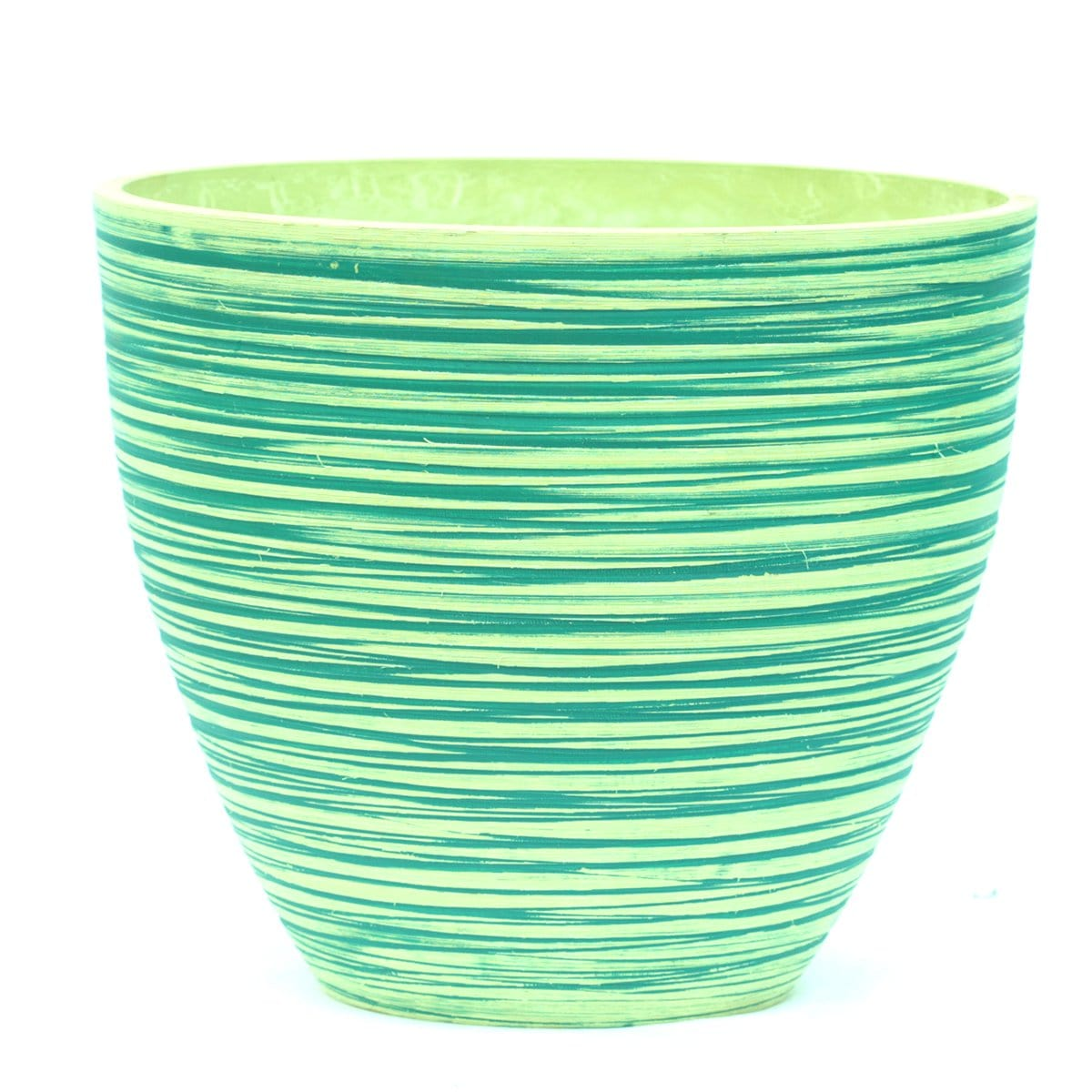 Polystone Pot -  Blue Green
