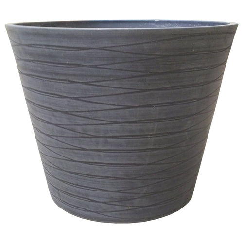 Polystone Pot - Black