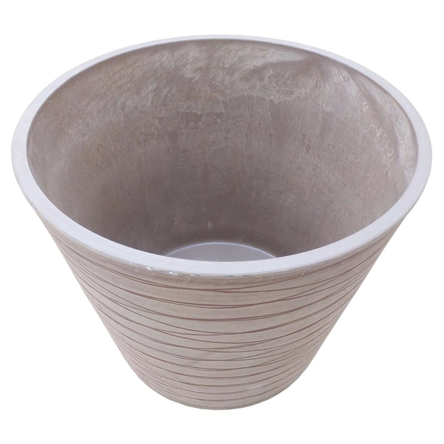 Polystone Pot - Chocolate