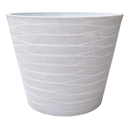 Polystone Pot - White Stone