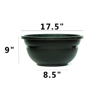 Black Round Plastic Pot for plants