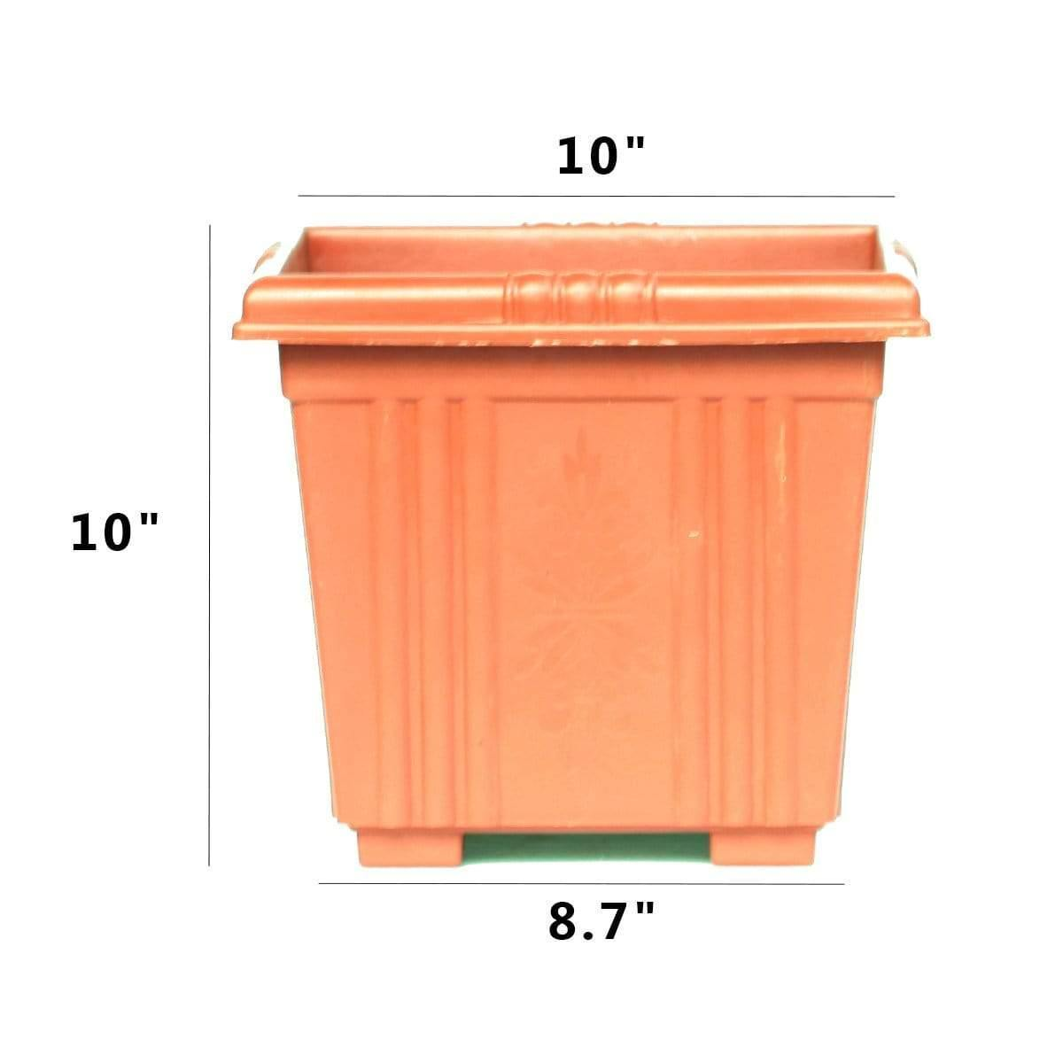 Square Plastic Pot for Plants