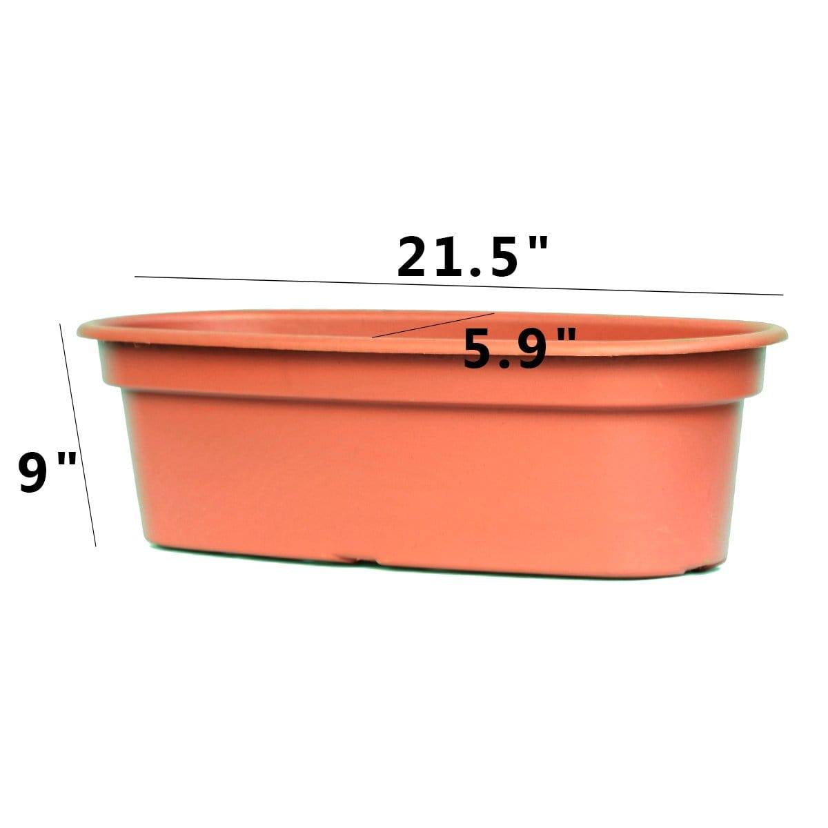 Oval Plastic Planter for Plants