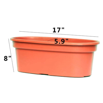 Brown Oval Plastic Planter for Plants