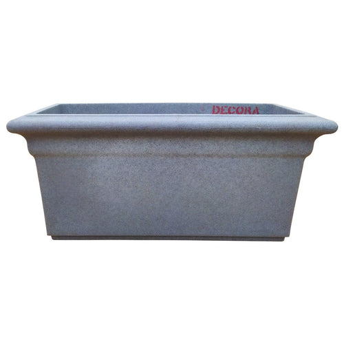 Fibre Plastic Rectangular Pot -  Gray