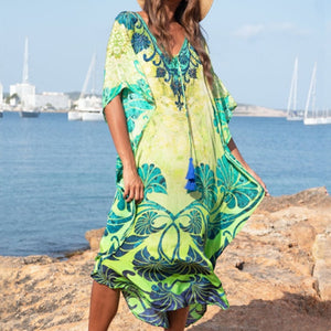 Tunics Kaftan Beach Cover up - Blue Belle Alley