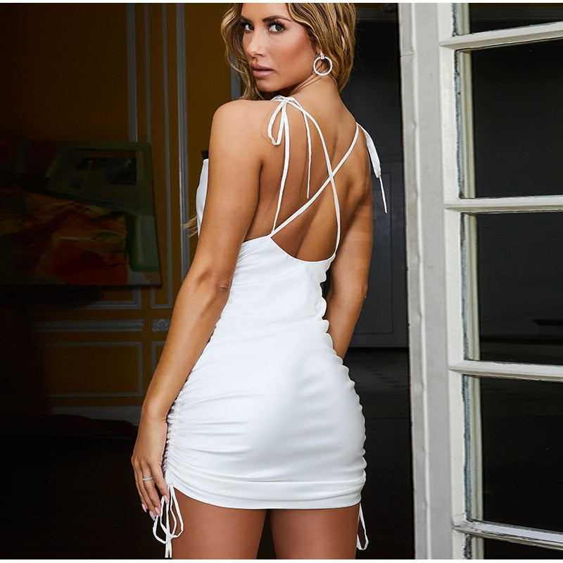 Glossy Elastic Bodycon Dress