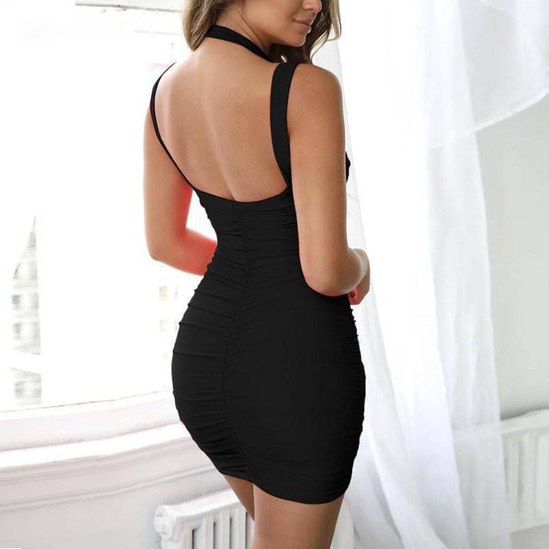 Pleated Party Bodycon Dress