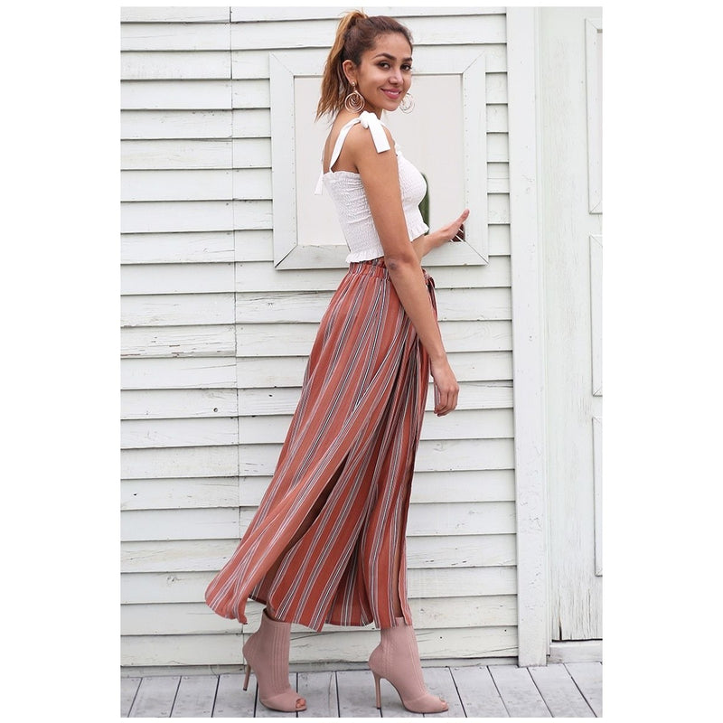 Striped palazzo pants - Blue Belle Alley