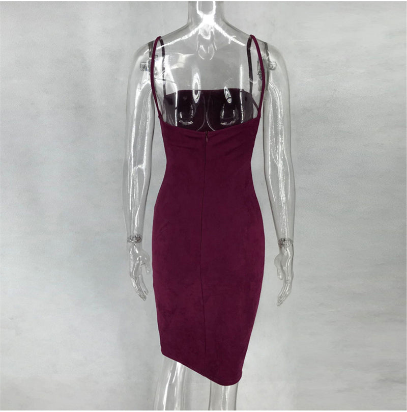 Wine Red Evening Bodycon - Blue Belle Alley