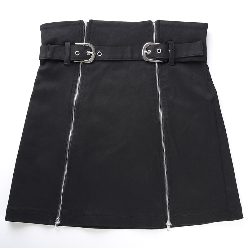 Women Punk Slit Skirt