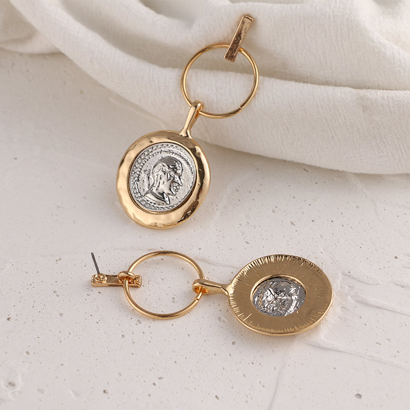 Vintage Style Portrait Earrings - Blue Belle Alley