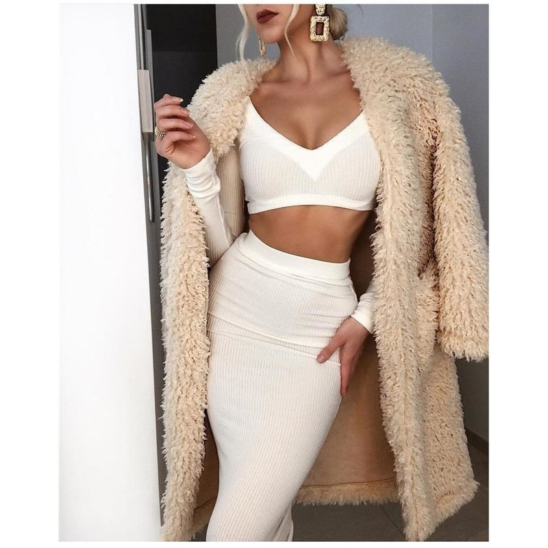 Ribbed two piece crop top