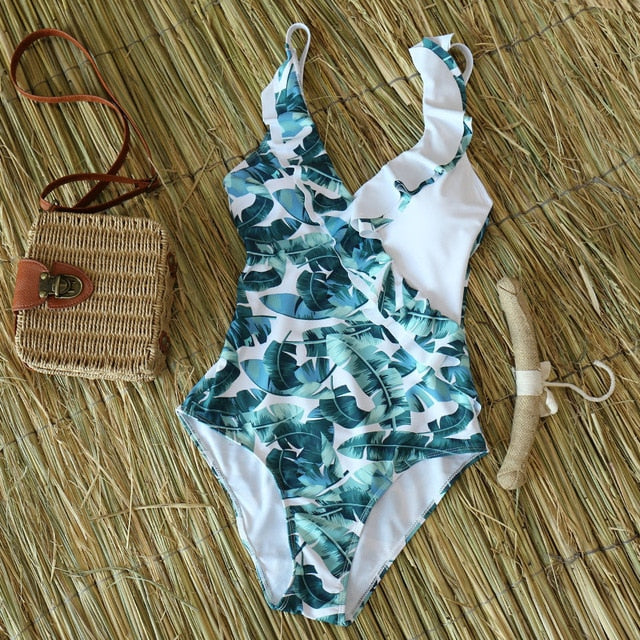 Retro Style Swimwear - Blue Belle Alley