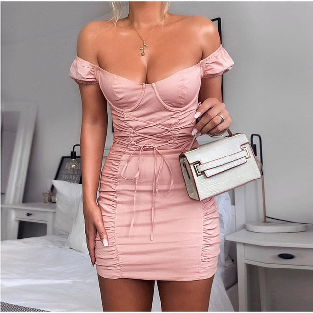 Puff Sleeve Underwire Mini Dress