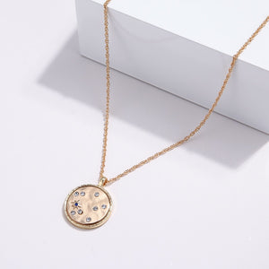 Round Geometric Necklace - Blue Belle Alley