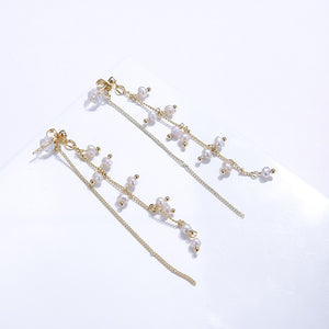 Freshwater Pearls Drop Earrings - Blue Belle Alley