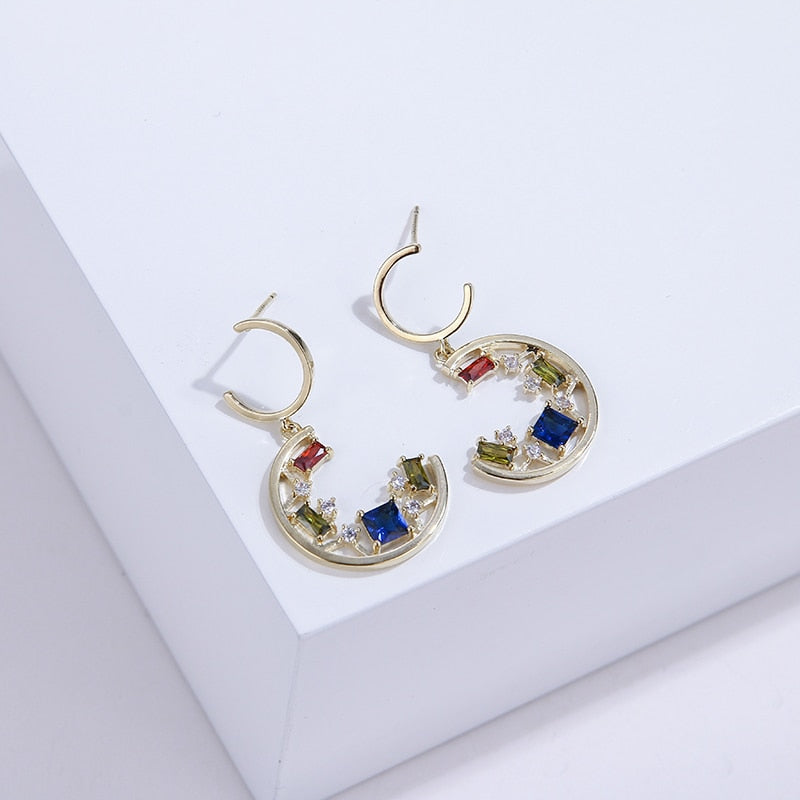 Romantic Moon Earrings - Blue Belle Alley