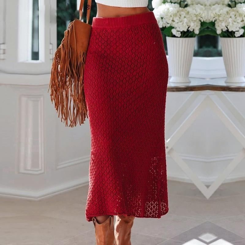 Knitted midi skirt - Blue Belle Alley