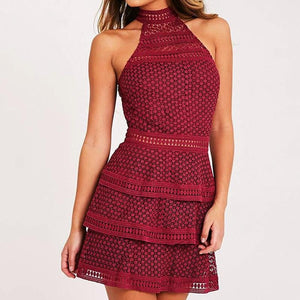 Sleeveless Halter neck Party Dress