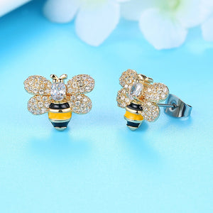 Trendy Bee stud earrings