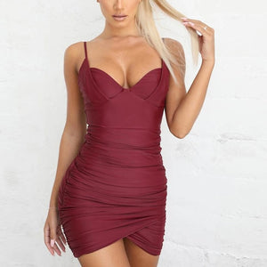 Push Up Padded Backless Party Dress