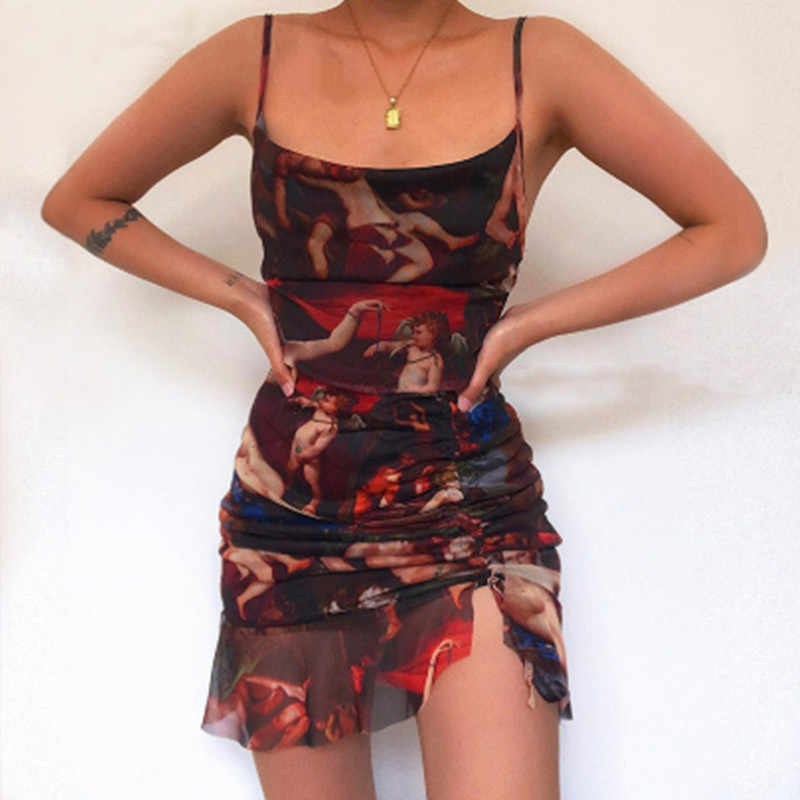 Angel Print Mini Dress