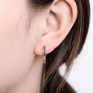 Gold Rainbow Earrings
