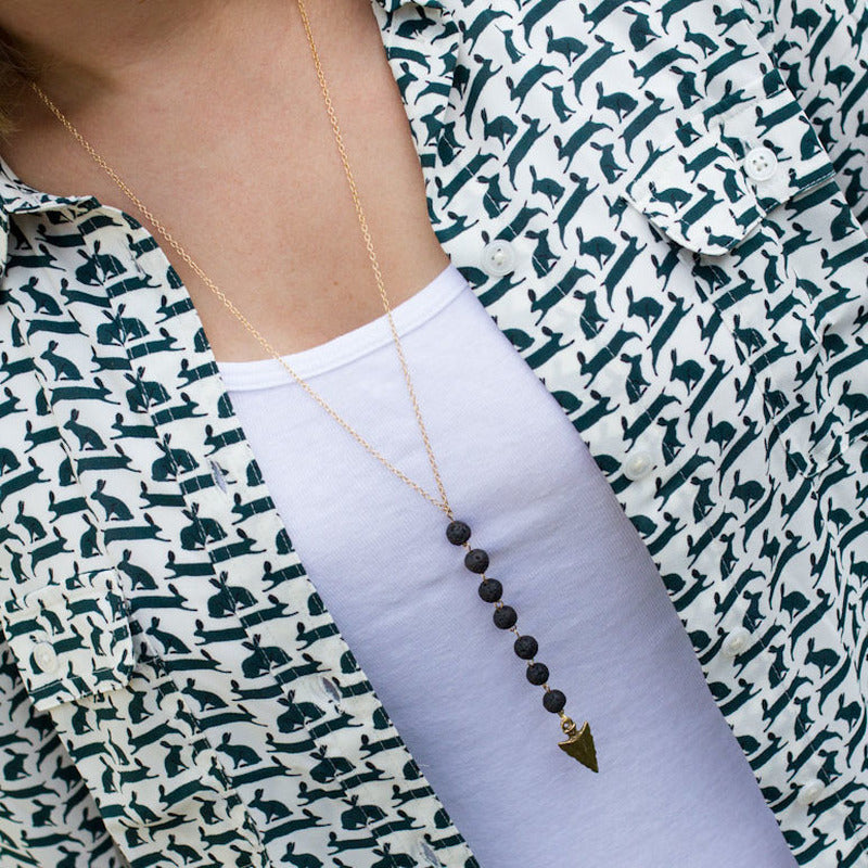 Long Arrow Tip Necklace