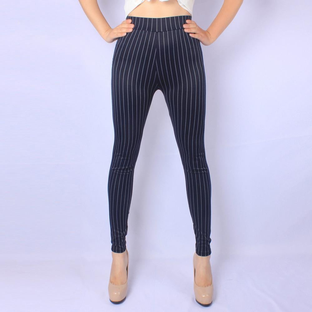 Striped Denim Look Leggings