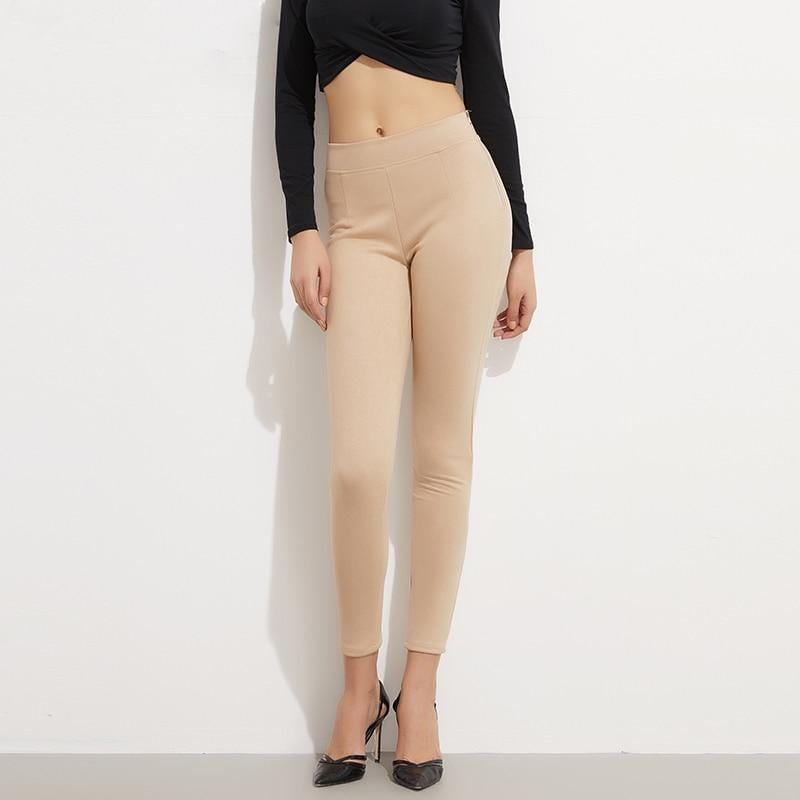 Suede Look Ladies Pants