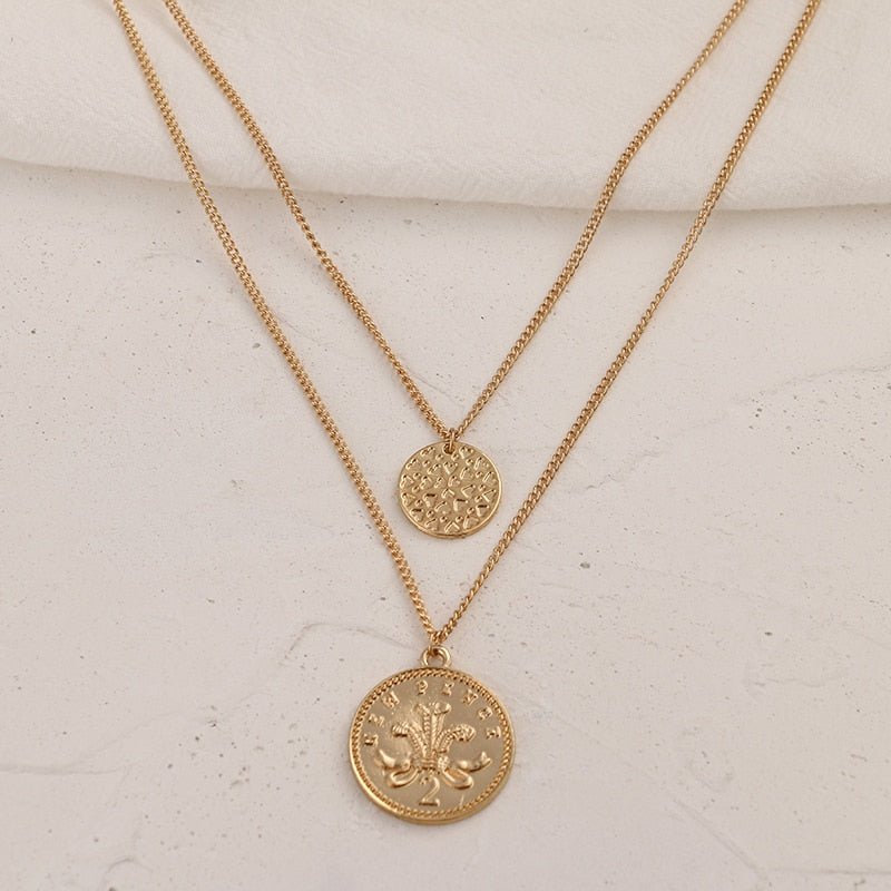 Coin Pendant - Blue Belle Alley