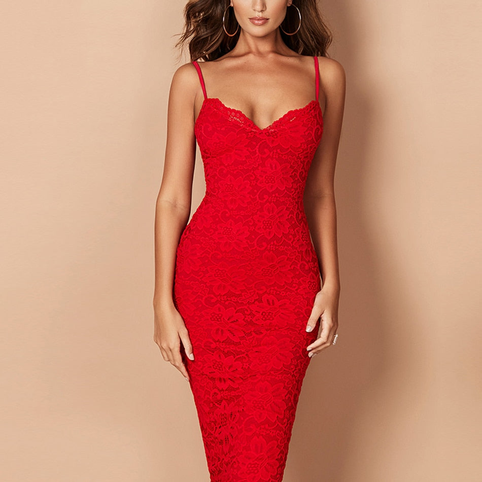 FIRE BANDAGE MAXI DRESS