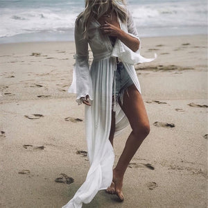 Long Kaftan Beach Cover up - Blue Belle Alley