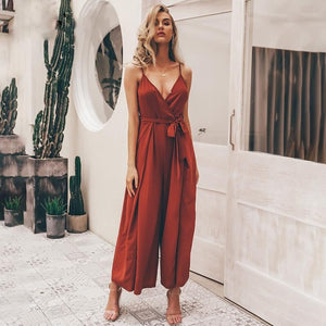 Tie Front Soft Jumpsuit - Blue Belle Alley